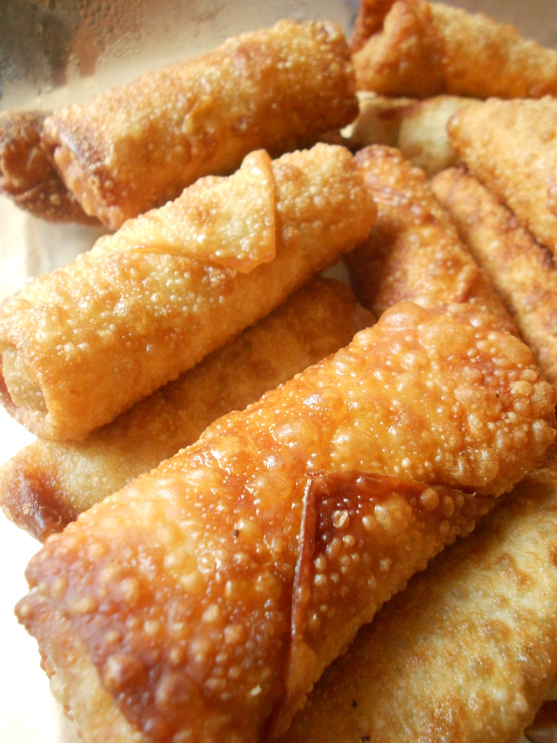 What I love about egg rolls are those bubbles on the skin.